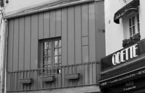 (c) jbs Häuserfassade irgendwo in Paris.  März 2ooofünfzehn