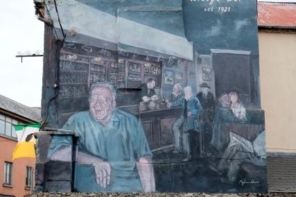 Hauswandmalerei in Dublin, 2019. foto by jbs